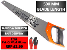 """COBRA 500mm / 20"""" HAND SAW for Wood Carpentry 8 TPI Sharpoint Hard point 2321"""
