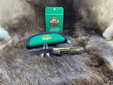 Pre 64 Vintage Puma 942 Jagdmesser Knife With Stag Handles In Puma Pouch