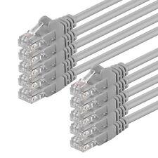 10 x 0,25m CAT.6 U/UTP Kabel grau Gigabit TV Patchkabel LAN Netzwerk Ethernet