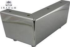 4 X CROMO Patas Metálicas De Muebles Pies Para Sofas Sillas Taburetes gabinetes H.7cm