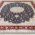 Yilong 8'x10' Large Silk Rugs Hand-knotted Country Style Carpets Handmade 0952