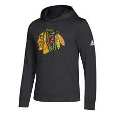 adidas Men's Chicago Blackhawks Hoodie Fleece Pullover Black XL
