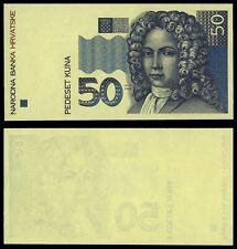 ZE.133} CROATIA 50 kuna 1993 / Obverse trial print / UNC