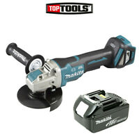 Makita DGA519 18V 125mm Brushless X-Lock Angle Grinder With 1 x 5.0Ah Battery