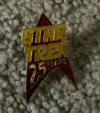 STAR TREK 25th ANNIVERSARY PIN