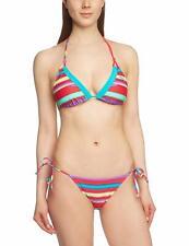 PUMA Women's Bikini Stripy Triangle Barberry size UK 12 New with Tags