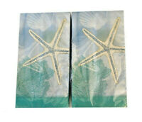 Starfish Guest Hand Towels Paper Napkins 20 pk Set of 2 Summer Beach House Boat