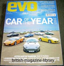 Evo 39 2001 Car of the Year Elise S2 Evo VII SL500 911 RUF 172 C12S Tamora OX99-