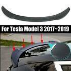For Tesla Model 3 2017-2019 Carbon Fiber Style ABS Tail Wing Rear Spoiler Trunk