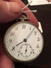 Swiss 17 Ligne 15 Jewel Quality Pocket Watch Movement, 14k Gold Filled Nice Runs