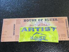 Motorhead House of Blues Comp ticket untorn 1996 w/Artist Pass