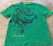 Reebok Niños Jóvenes Slam Dunk Camiseta verde Talla Mediana