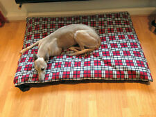 CosiPet® X Large Deluxe Waterproof Rhomboid Memory Foam Pad Dog Bed RED PLAID