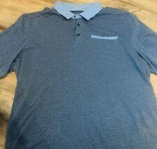 Skechers Men's GO -GOLF Jacquard Polo Shirt Blue Short Sleeve (M127)