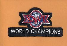 1992 SB26 WORLD CHAMPS JERSEY PATCH Washington Redskins