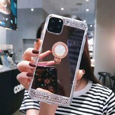For iPhone 11 Pro Max 8  Bling Diamond Mirror Phone Case Cover Ring Holder Stand
