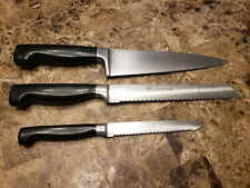 Zwilling Henckels Set 3 Four Star Knives 31071 Chefs Knife 31076 Bread Carving