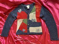 Vintage Women's Susan Bristol Casuals Button Heart Sweater Size Small
