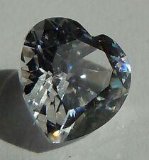 Heart cut 10x10 mm 4 ct Real VVS D White Sapphire Brilliant Solitaire Cut Stone