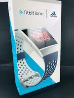 Fitbit Ionic Fitness Watch Adidas Sport Edition Ink Blue/Ice Gray FB503WTNV