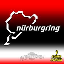 ADESIVO PVC CIRCUITO NURBURGRING prespaziato auto moto sticker