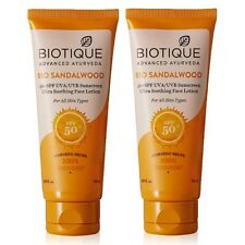Biotique Bio Sandalwood 50+ SPF UVA/UVB Sunscreen Ultra Soothing Face Lotion 50m