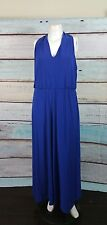 Lauren Ralph Lauren Blue Cobalt Maxi Dress Sz 16