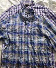 Banana Republic lot of 2 tailored Slim Fit Dress Shirt Sz large multicolor check