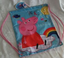 PEPPA PIG Kids Girls SLING BAG Library Swimming School Sport drawstrings