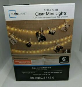 100 Clear Mini Lights Christmas Wedding Tree Fairy String Outdoor White Wire Cor