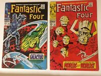 Marvel Comics Silver Age~Fantastic Four #74 & #75 Both In VG+/FN-