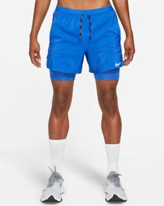 "Nike Flex Stride Men's 5"" 2-In-1 Running Shorts Sustainable Materials"