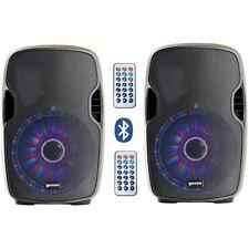 GEMINI AS 8 P BLU LIGHT coppia casse diffusori wireless attivi 500W + beat-led