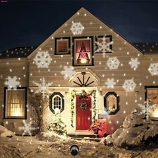 White Snowing House Outdoor Snowflakes Laser Landscape Light Projector LED Xmas