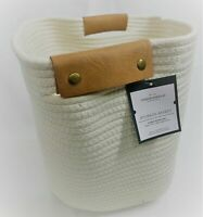 THRESHOLD Storage Basket NWT Decorative Coiled Rope Square Base Cream