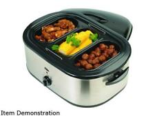 Elite ERO-210B Stainless Steel 18 Qt. 18-Quart Roaster Oven w/ buffet server and