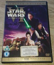 STAR WARS - RETURN OF THE JEDI - THEATRICAL CUT ! R2 DVD 2-DISC SP ED !! VGC !!