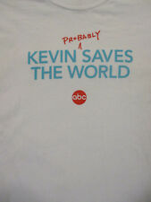 L white KEVIN SAVES THE WORLD promotional t-shirt - ABC - KEVIN JAMES