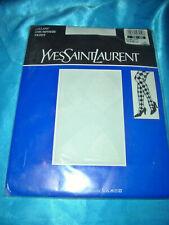Yves Saint Laurent Feinstrumpfhose Gr. 38-40 weiß gemustert Collant OVP