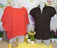 """Lot vêtements occasion femme - Chemise """" Camaieu """", Pull """" Golden D """" T: 42/44"""