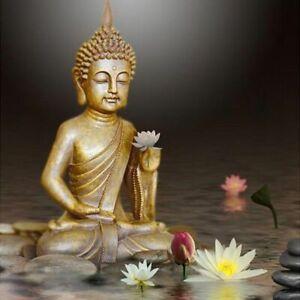 Lotus Mosaïque Diamant Broderie Croix Point Bouddha Complet Peinture Strass Kit