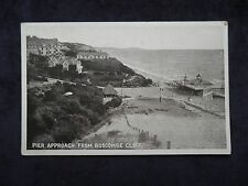 OLD BOOTS THE CHEMISTS PELHAM SERIES POSTCARD PIER APPROACH FROM BOSCOMBE CLIFF