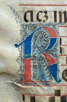 16th century HUGE ORIGINAL handwritten medieval VELLUM manuscript free EXPRESS