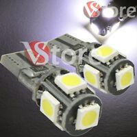 2 LED T10 5 SMD No Errore BIANCO Xenon Lampade Canbus Per Targa Posizione W5 12V