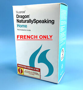 NEW! Nuance Dragon Naturally Speaking Home 13 Version w/ Headset - French