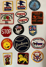 LOT OF 16 VINTAGE PATCHES USMALE/ USFEMALE, GENESEE, TRAVEL And MORE