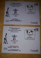 Curling olympic fdc cover Vancouver 2010