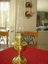 Aladdin Model 23 Brass Kerosene/Oil Table Lamp with Heelless Chimney