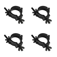 4 x Showtec Black Narrow Half Coupler 48-51mm Clamp Bar Truss Rigging