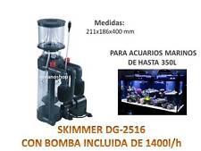 PROTEIN SKIMMER boyu dg-2516 1400l/h SEPARADOR UREA acuario MARINO HASTA 350L